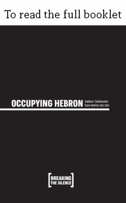 Occupying Hebron